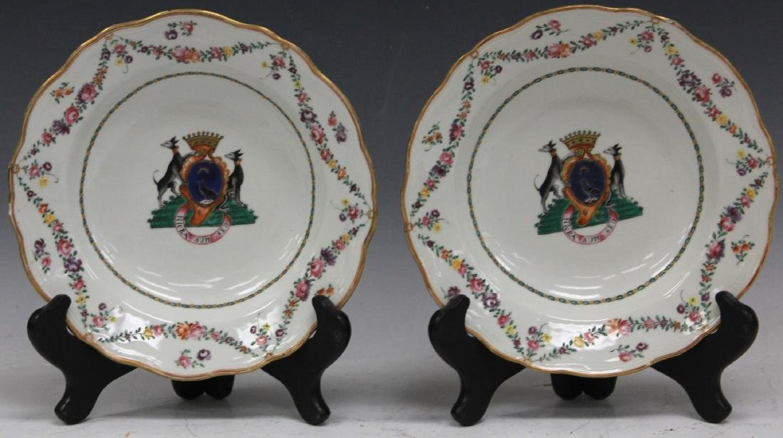 PAIR OF 18TH C. PORCELAIN EXPORT PLATES