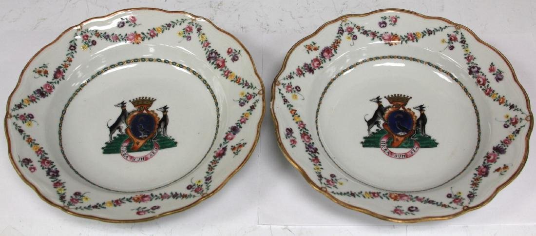 PAIR OF 18TH C. PORCELAIN EXPORT PLATES - 2