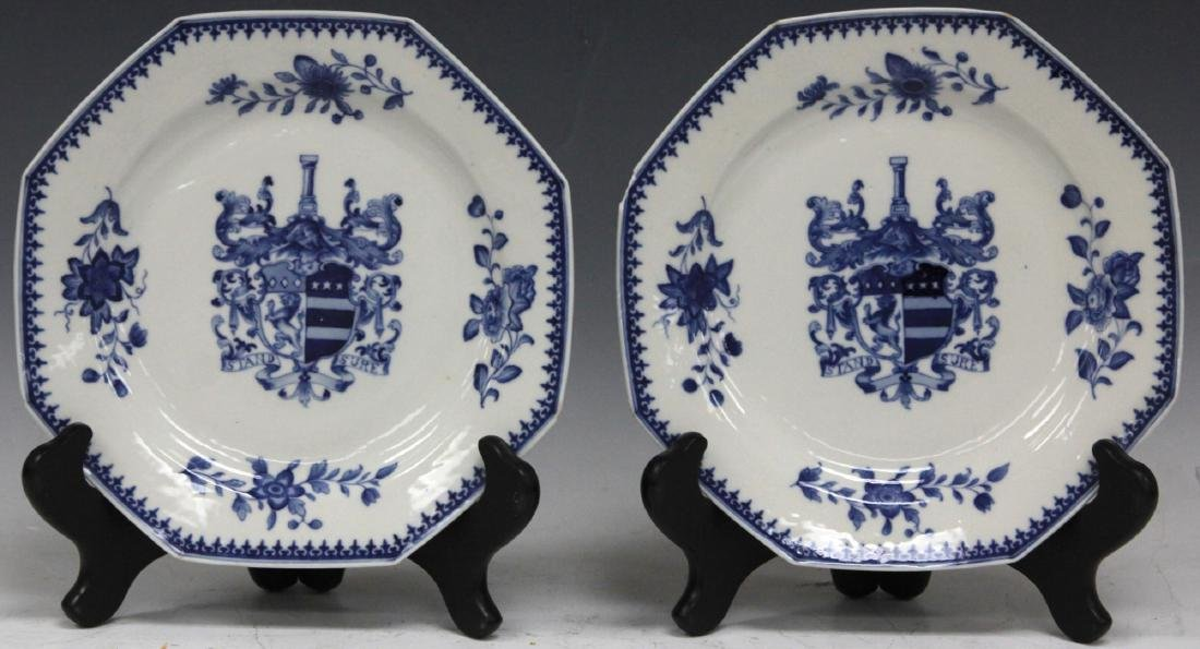 PAIR OF 18TH C. CHINESE BLUE & WHITE EXPORT PLATES
