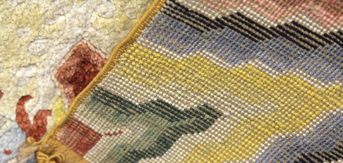 VINTAGE TIBETAN WOVEN CARPET W/ DRAGONS - 3