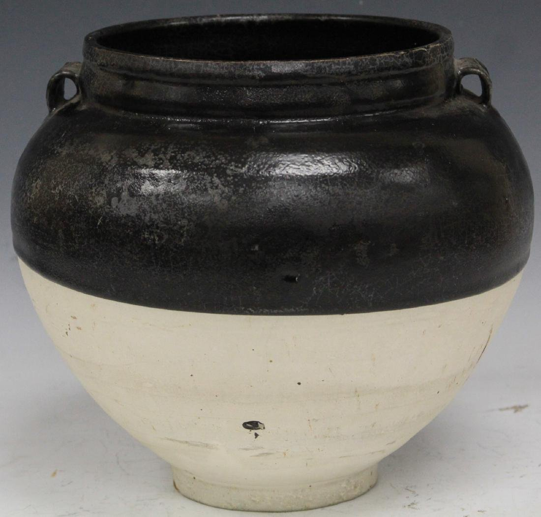SONG DYNASTY FLAMBE BLACK AND WHITE JAR