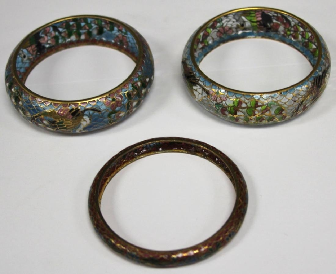 LOT OF (5) CHINESE PLIQUE A JOUR JEWELRY & DECOR - 2