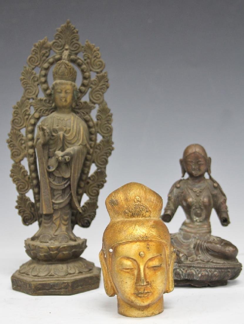 LOT OF (3) CHINESE DECORATIVE: QUAN YIN & BUDDHA