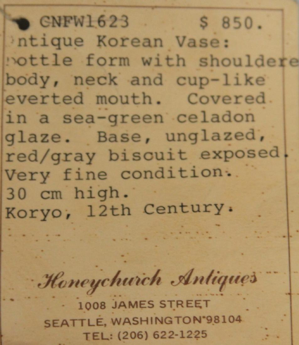 ANTIQUE KOREAN CELADON VASE - 3