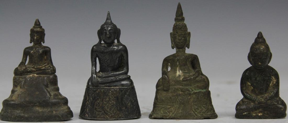 LOT OF (4) THAI BRONZE BUDDHAS