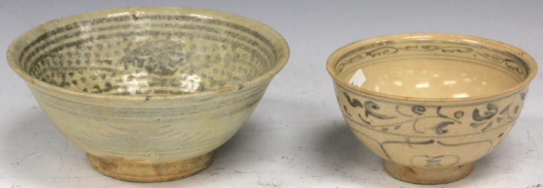 LOT OF (2) ANNAMESE POTTERY BOWLS