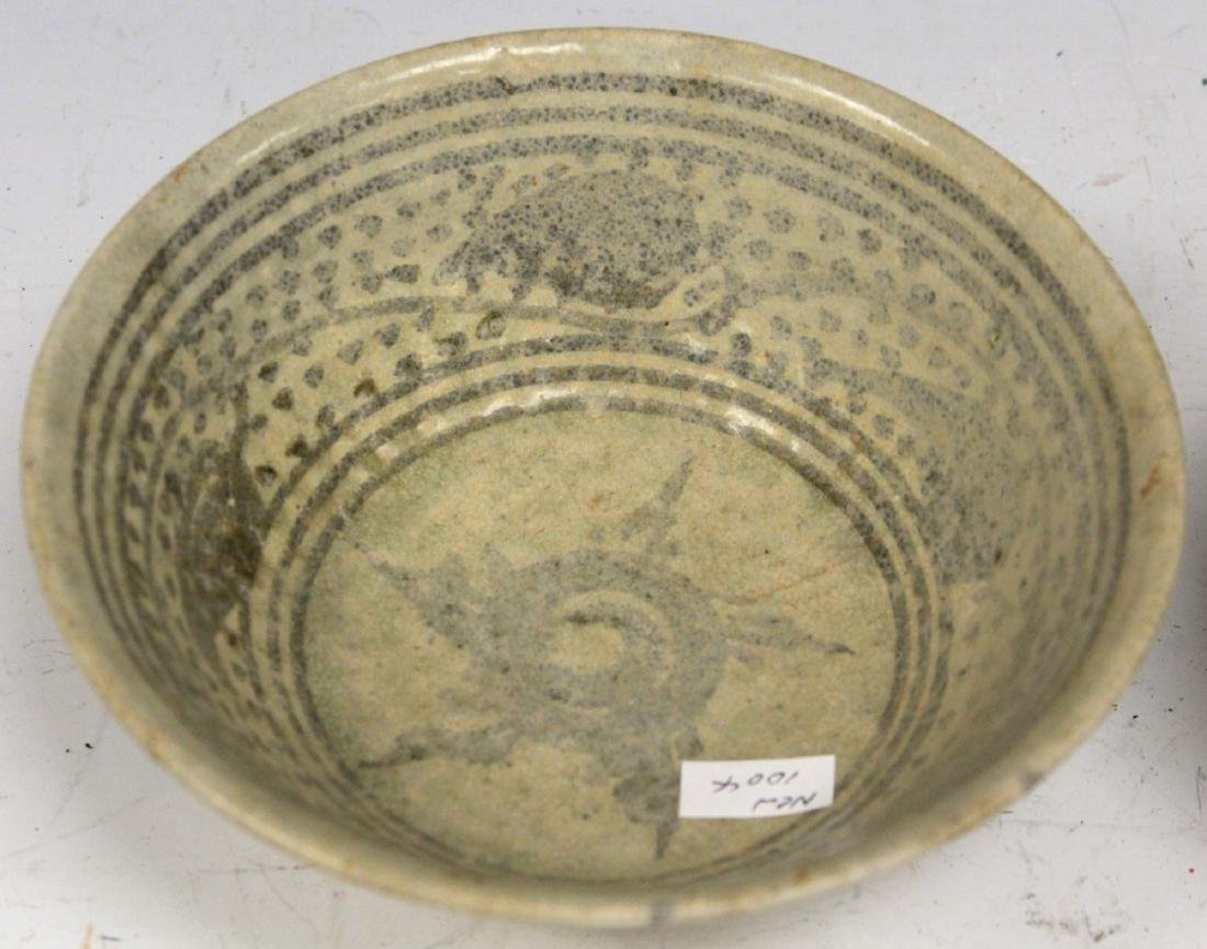 LOT OF (2) ANNAMESE POTTERY BOWLS - 2