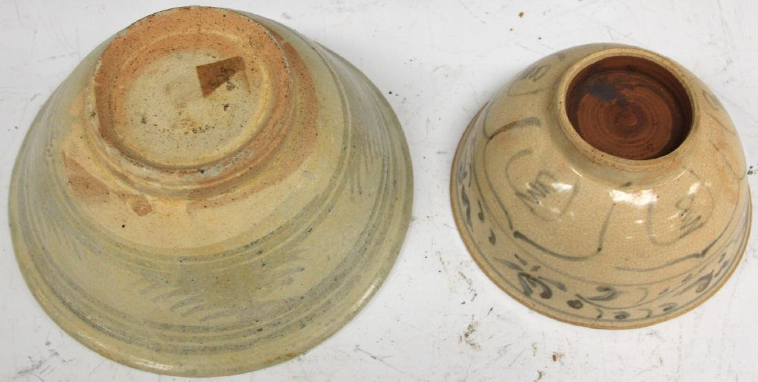 LOT OF (2) ANNAMESE POTTERY BOWLS - 3