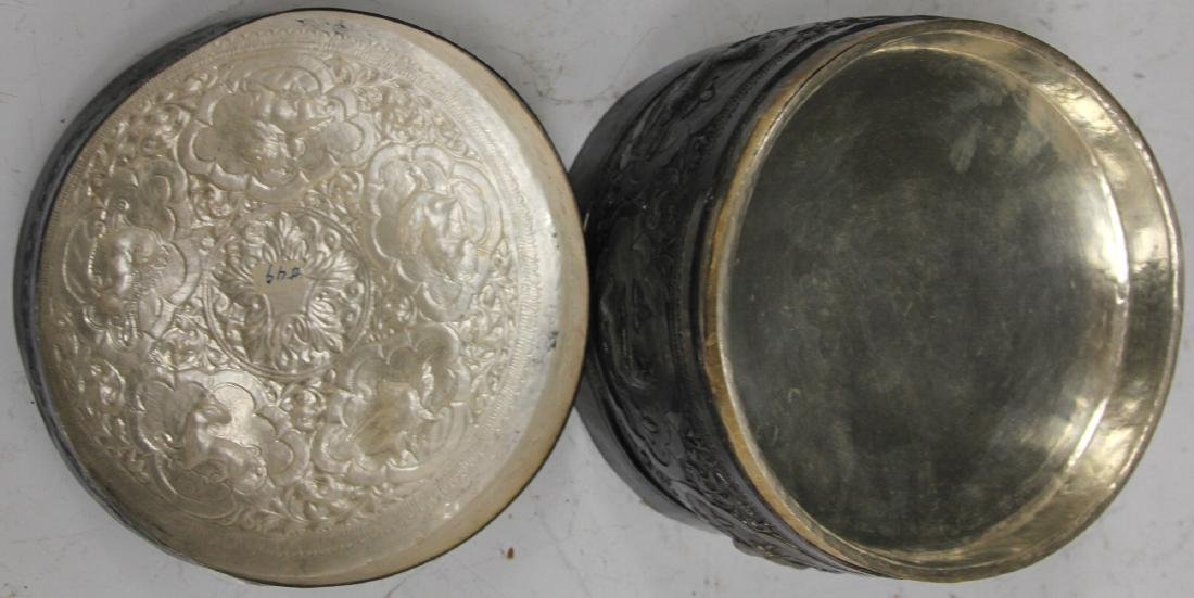 BURMESE ZODIAC SILVER CONTAINER, 18 OZT - 3