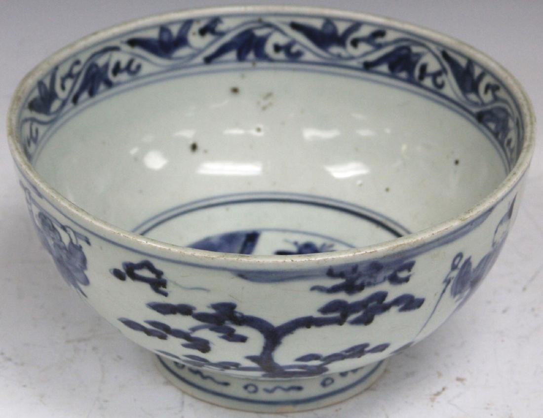 18TH/19TH C. JAPANESE BLUE & WHITE PORCELAIN BOWL