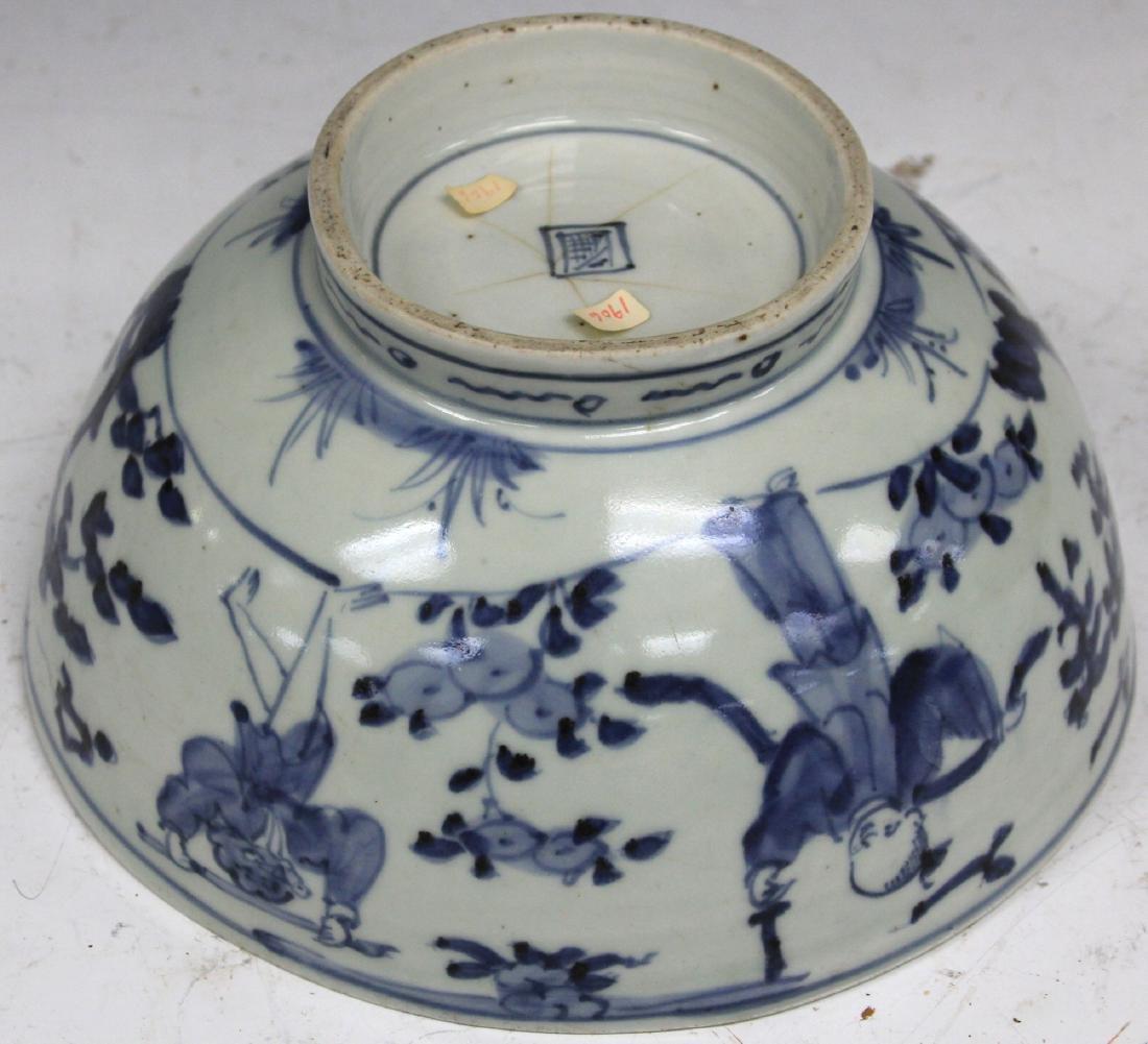 18TH/19TH C. JAPANESE BLUE & WHITE PORCELAIN BOWL - 3