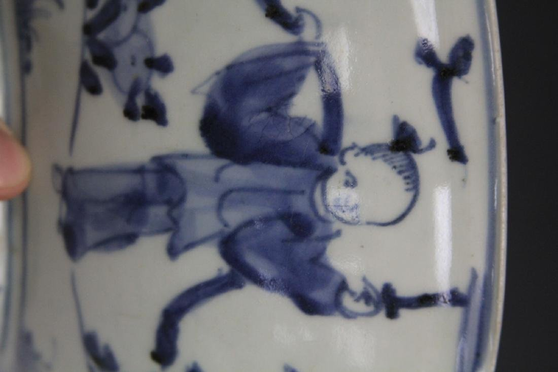 18TH/19TH C. JAPANESE BLUE & WHITE PORCELAIN BOWL - 4