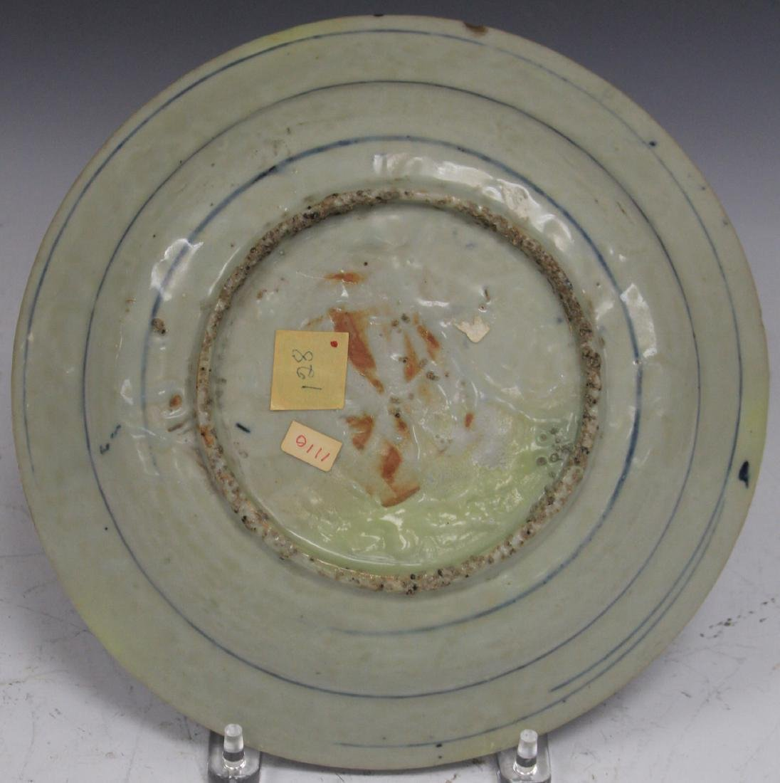 16TH/17TH C. SWATOW BLUE & WHITE PLATE - 3