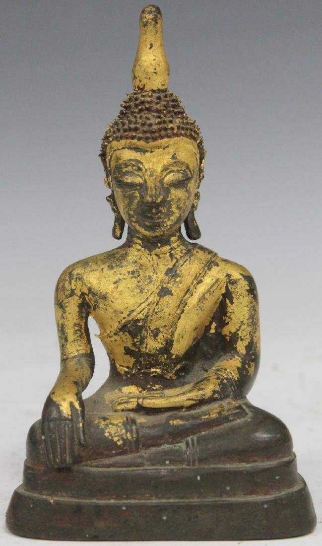 "VINTAGE THAI CAST BUDDHA, 7"" H"