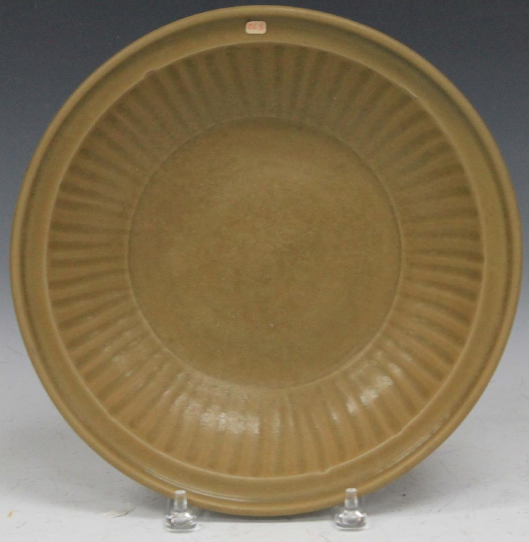 CHINESE BROWN GLAZE PLATE
