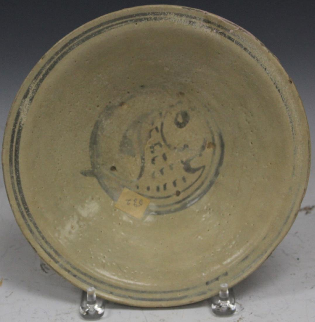 "ANNAMESE POTTERY BOWL, 10"" D"