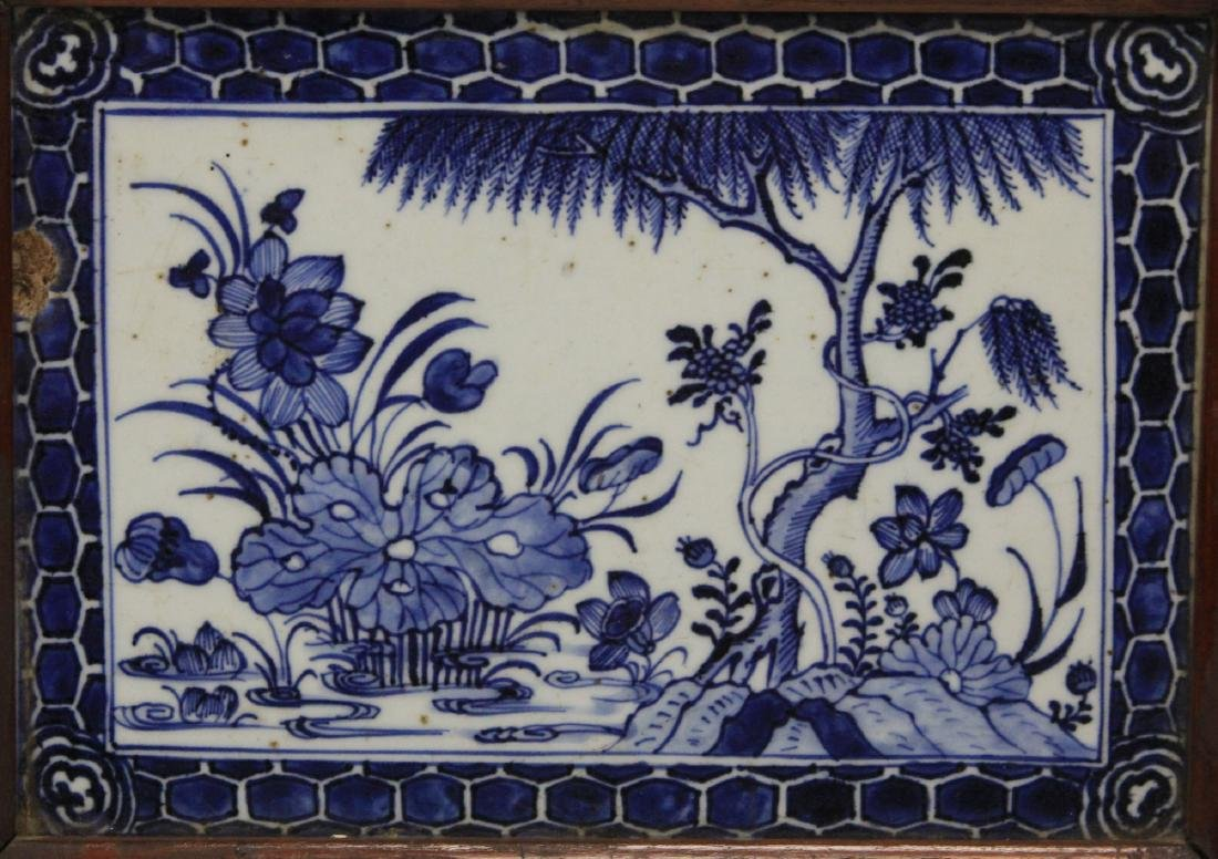 PAIR OF CHINESE PORCELAIN PLAQUES - 2