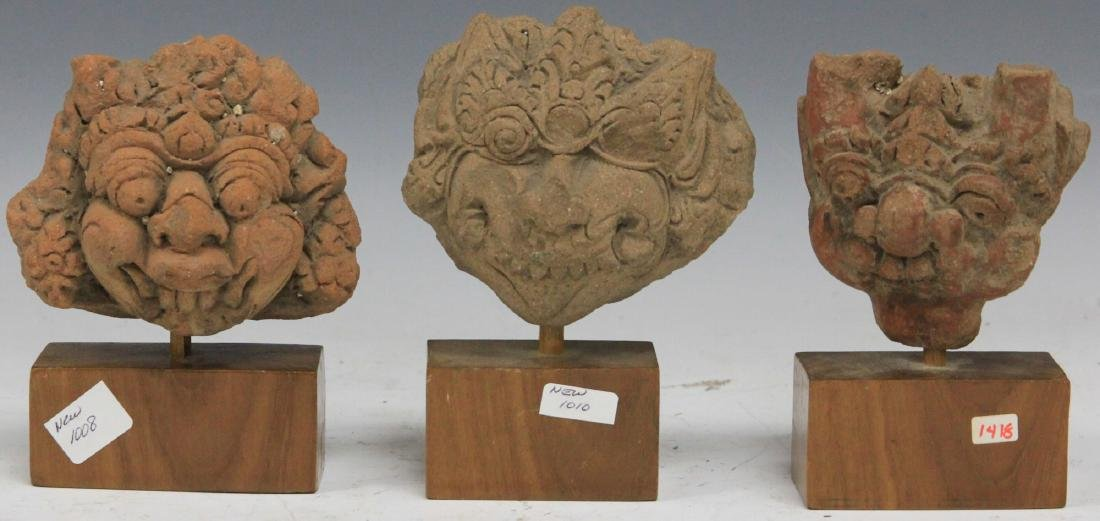 LOT OF (3) MALAYASIAN TERRA COTTA FIGURES