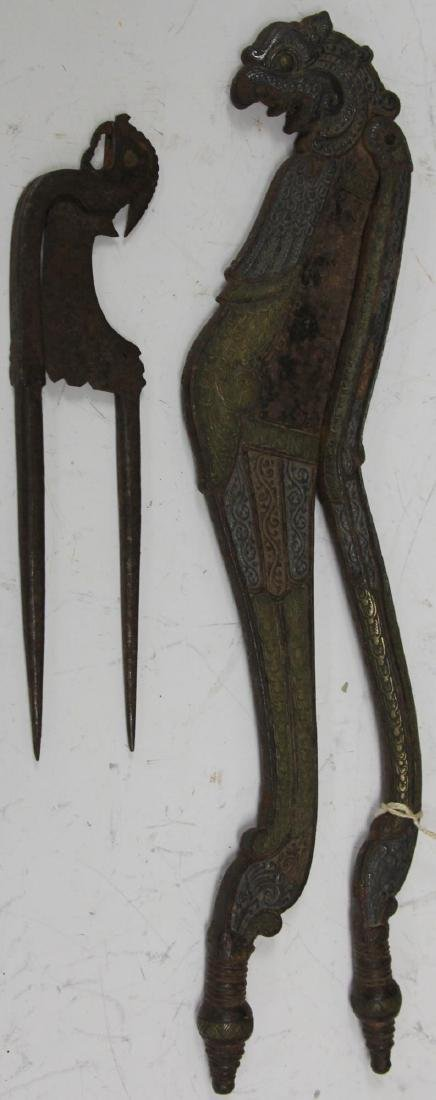 LOT OF (2) BALINESE BETEL NUT CUTTERS - 2