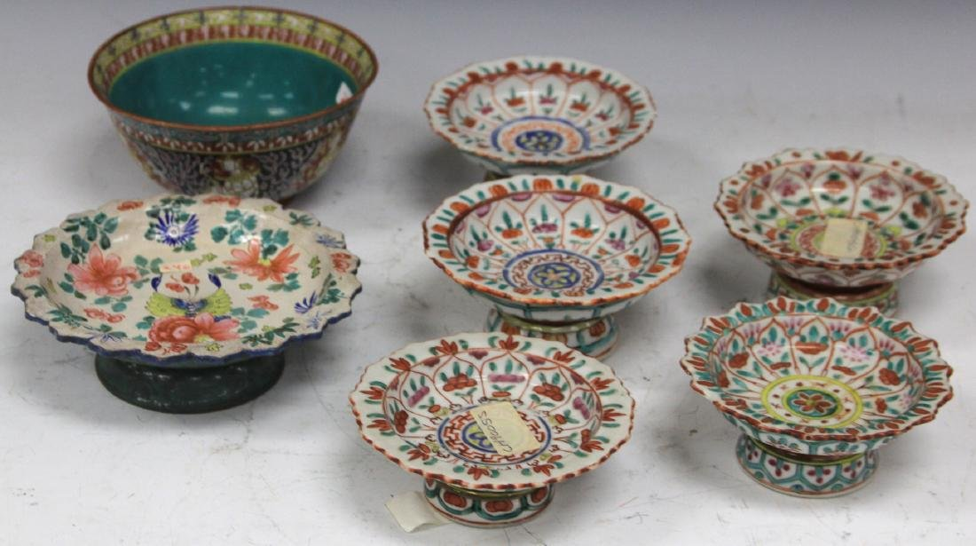 LOT OF (7) THAI POTTERY BOWLS