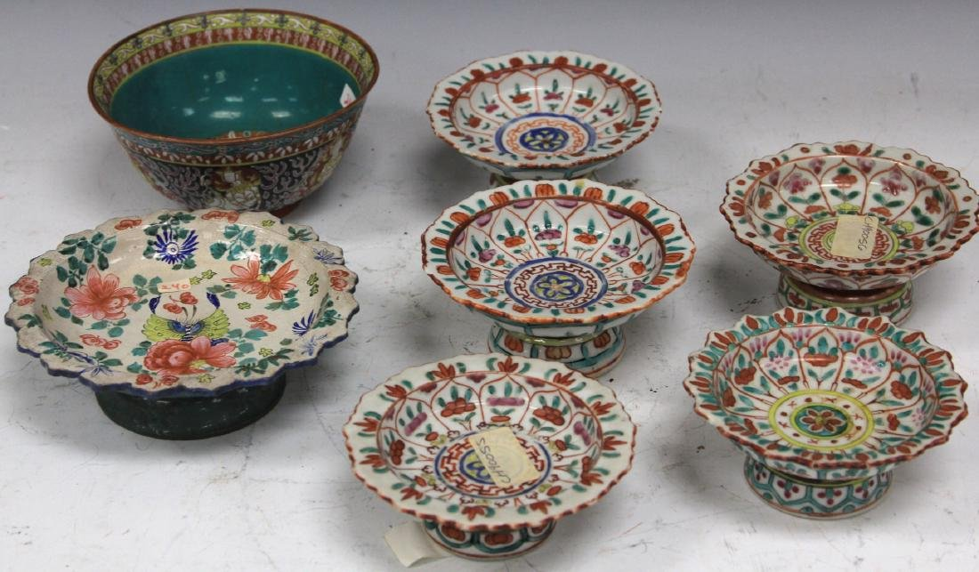 LOT OF (7) THAI POTTERY BOWLS - 2