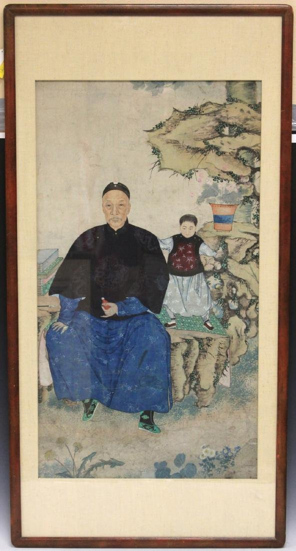 QING DYNASTY FRAMED PAINTING