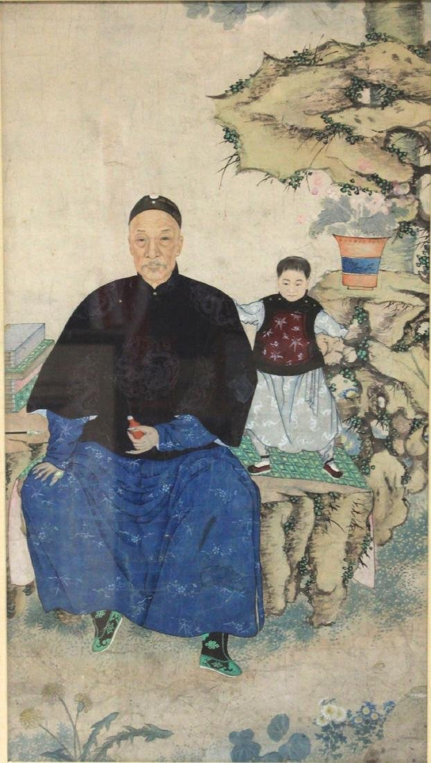 QING DYNASTY FRAMED PAINTING - 2