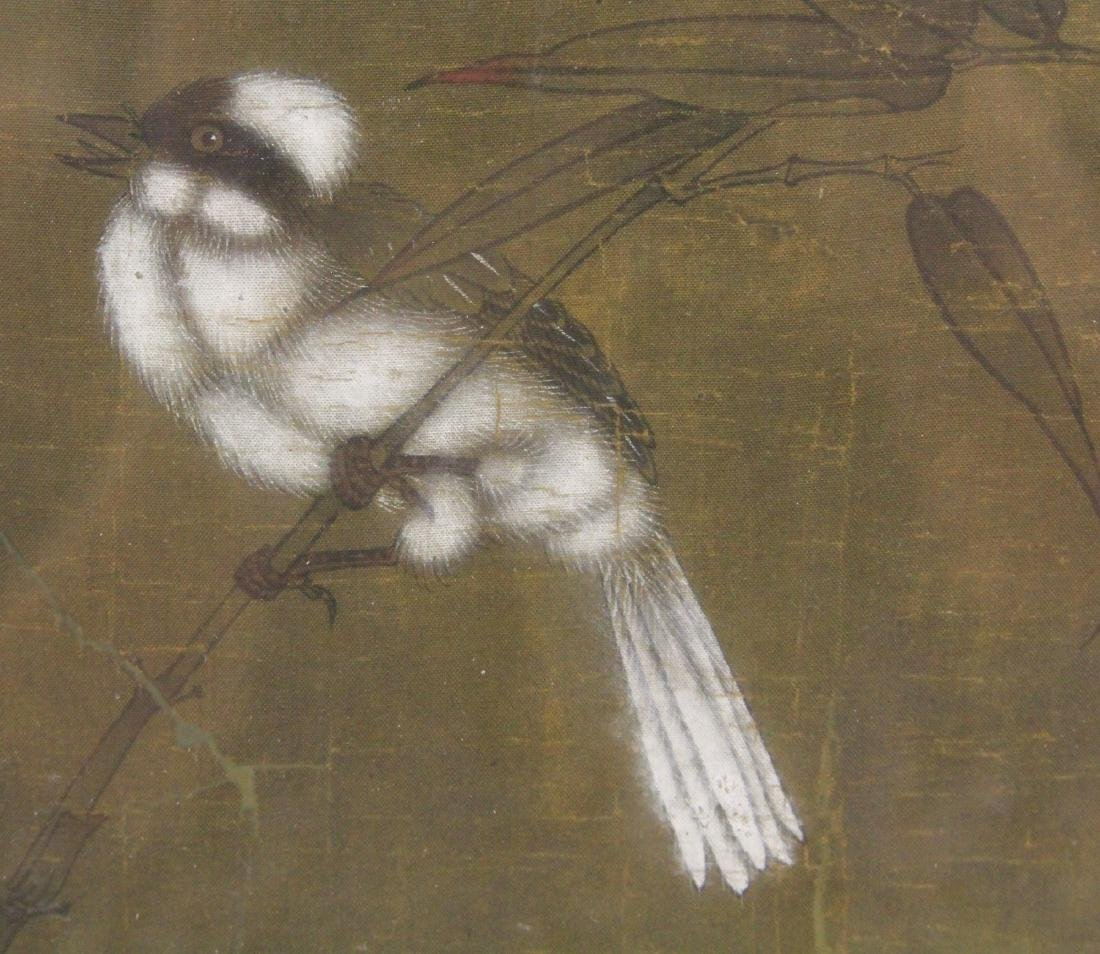 FRAMED CHINESE PAINTING WITH BIRDS - 3