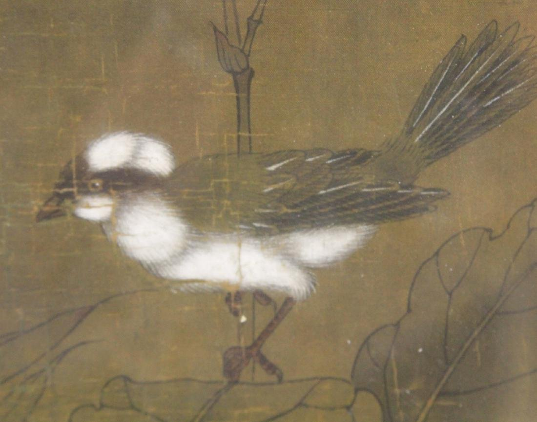 FRAMED CHINESE PAINTING WITH BIRDS - 4
