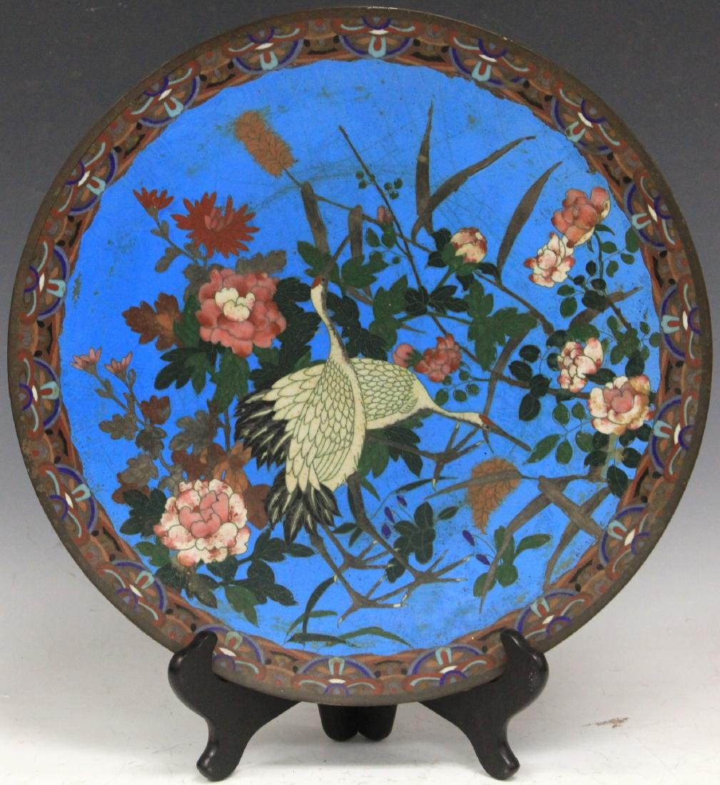 19TH C. JAPANESE CLOISONNE CHARGER