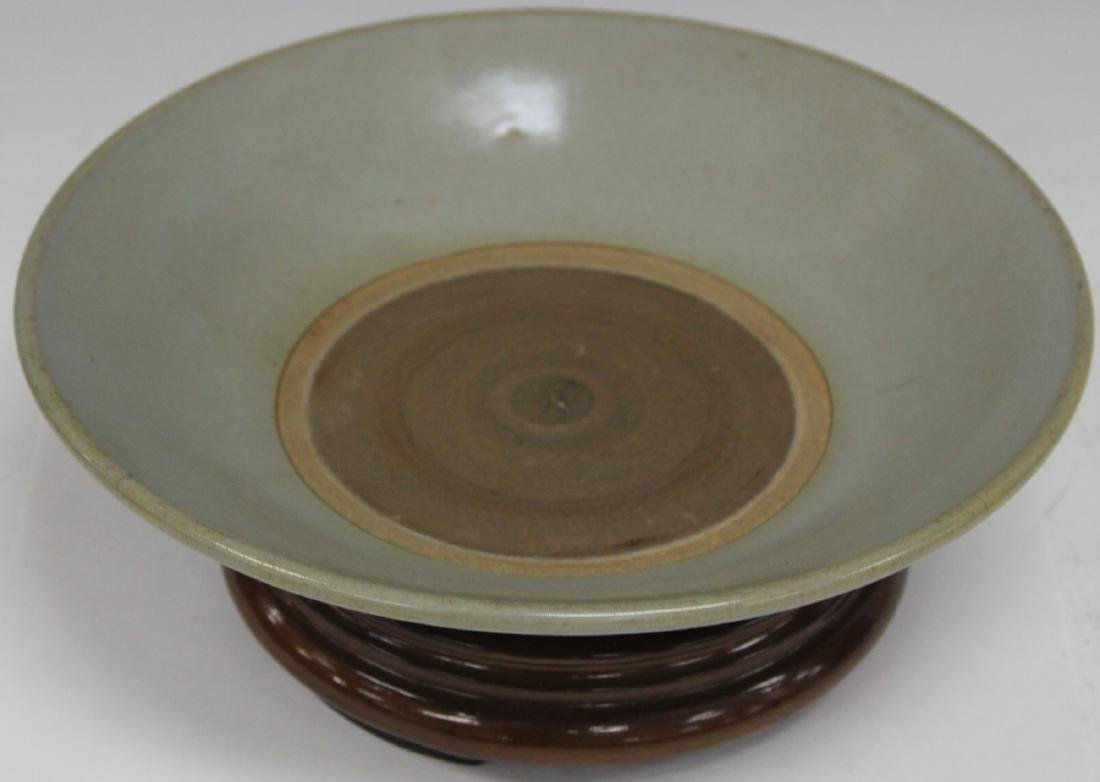 CHINESE CELADON BOWL WITH STAND