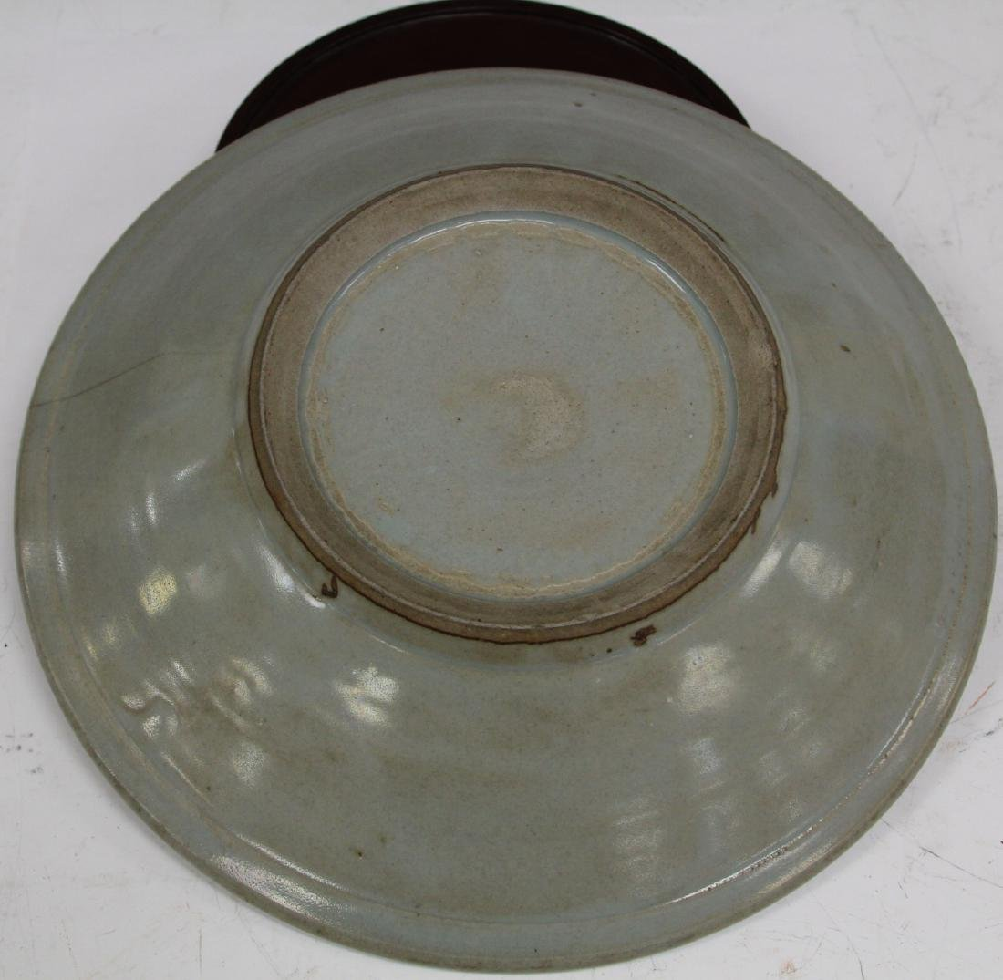 CHINESE CELADON BOWL WITH STAND - 2