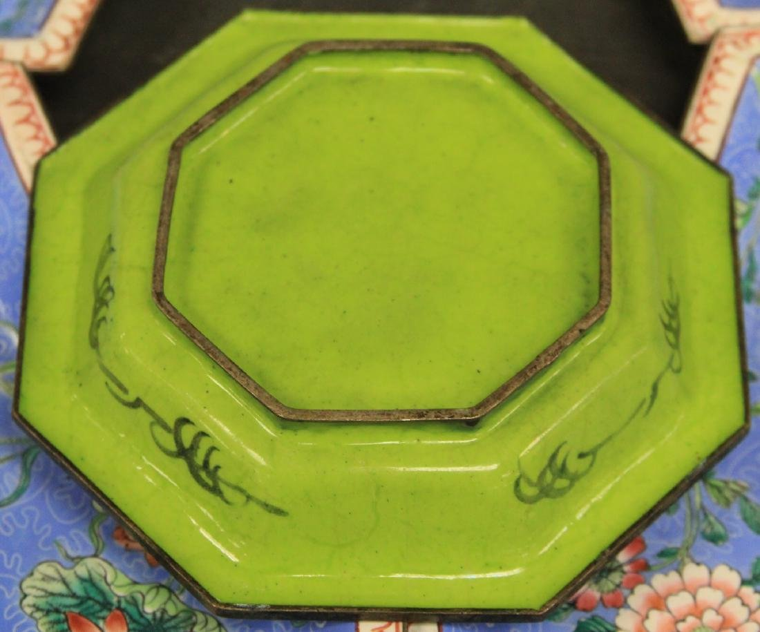 """VINTAGE CHINESE PEWTER TRAY, 17"""" L - 4"""