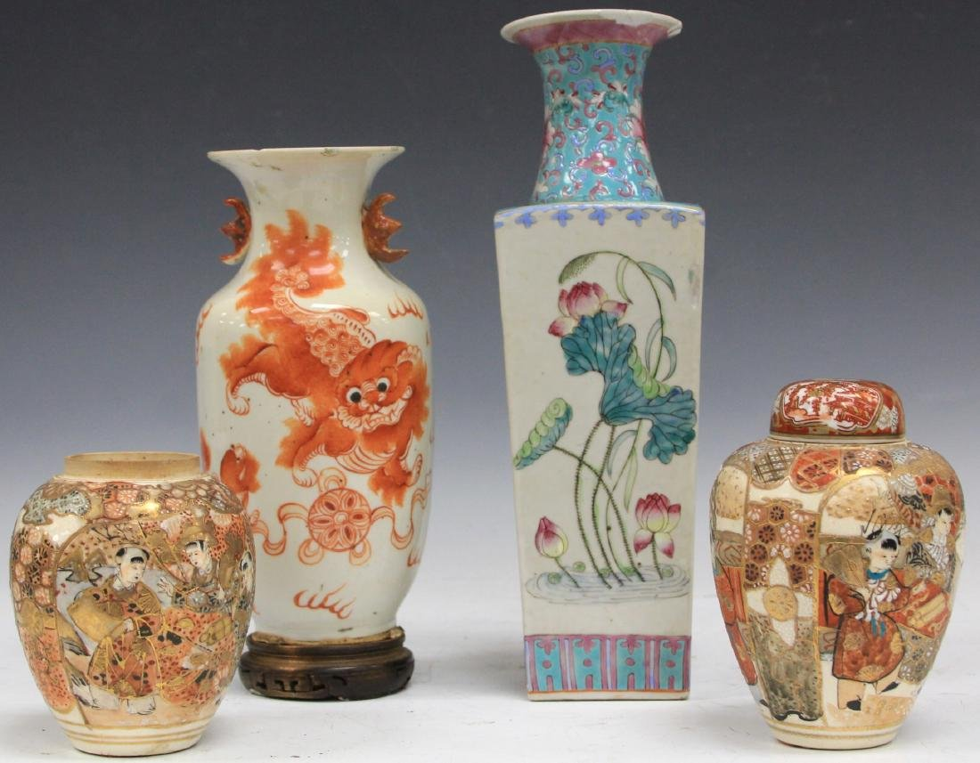 LOT OF (4) ASIAN POTTERY VASES