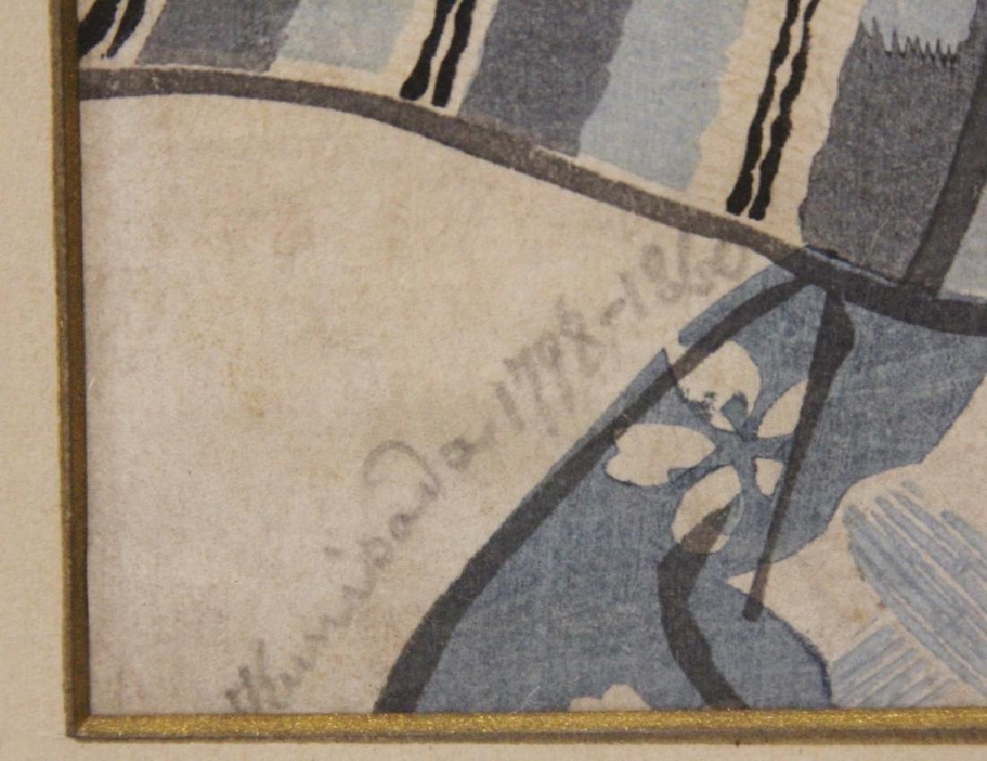 PAIR OF 18TH/19TH C. JAPANESE WOODBLOCK PRINTS - 3