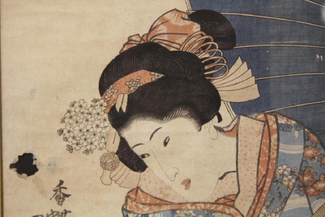 PAIR OF 18TH/19TH C. JAPANESE WOODBLOCK PRINTS - 5
