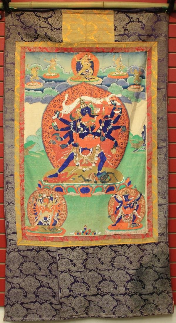 18TH/19TH C. TIBETAN TANKA PAINTING