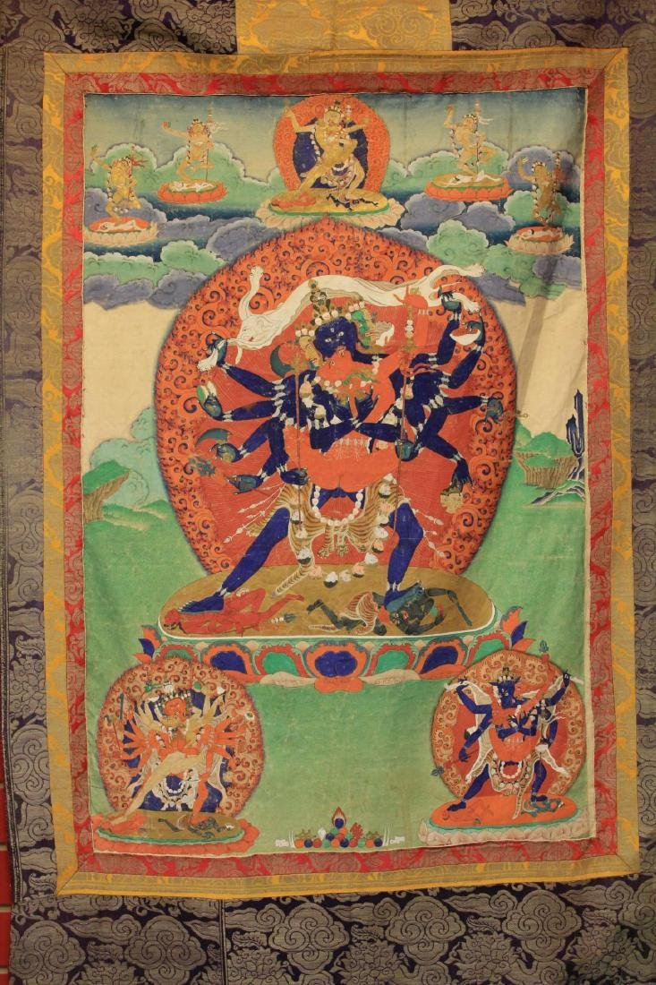 18TH/19TH C. TIBETAN TANKA PAINTING - 2