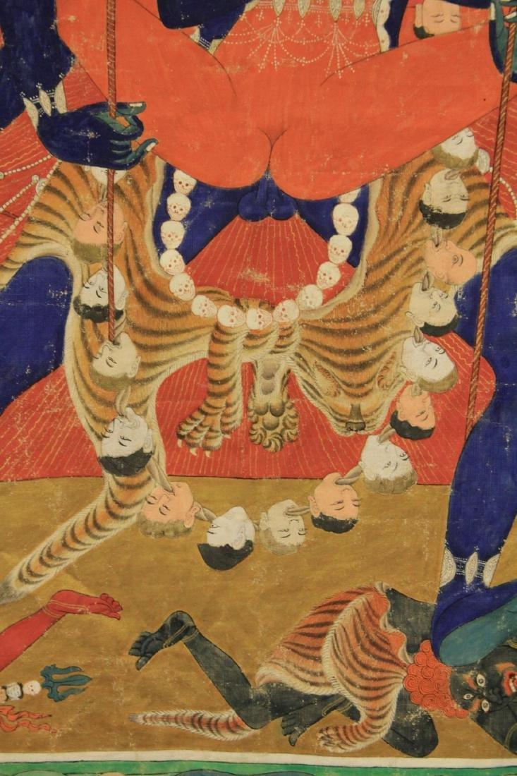 18TH/19TH C. TIBETAN TANKA PAINTING - 5