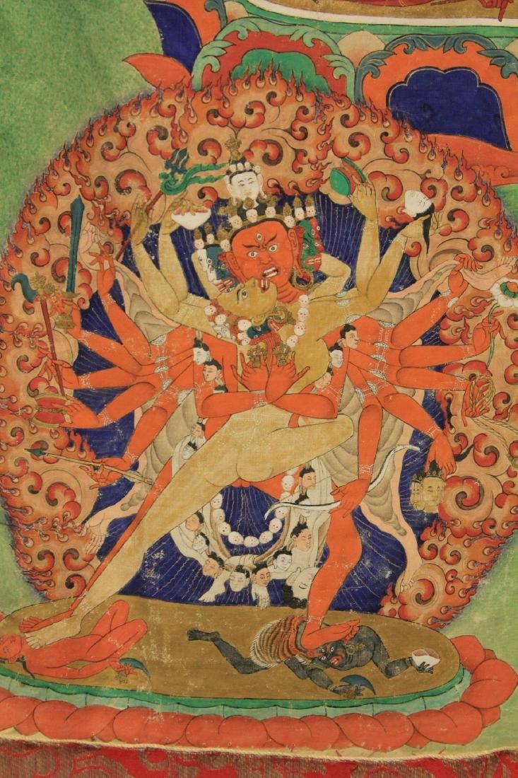 18TH/19TH C. TIBETAN TANKA PAINTING - 6