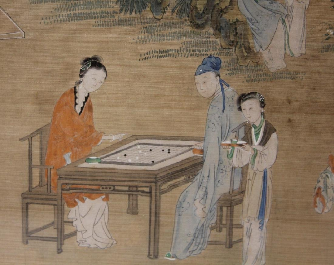 LATE 19TH C. FRAMED CHINESE PAINTING ON SILK - 2
