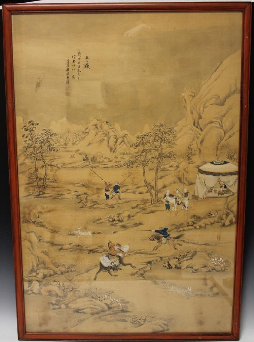 LATE 19TH C. FRAMED CHINESE PAINTING ON SILK