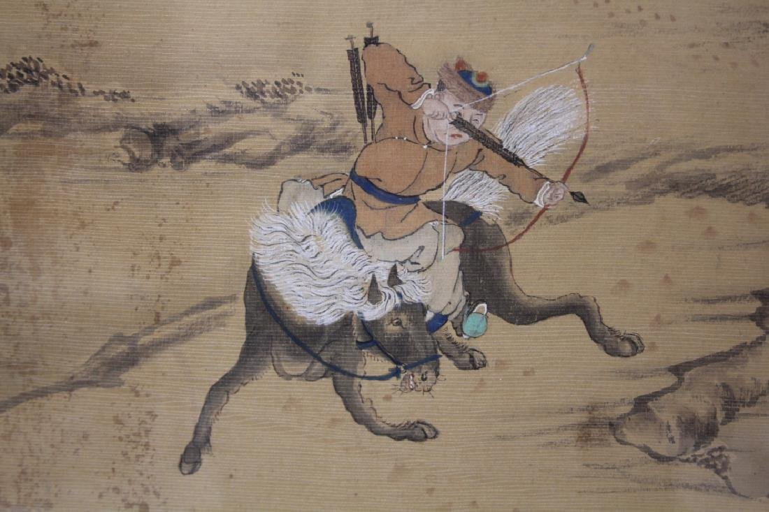 LATE 19TH C. FRAMED CHINESE PAINTING ON SILK - 3