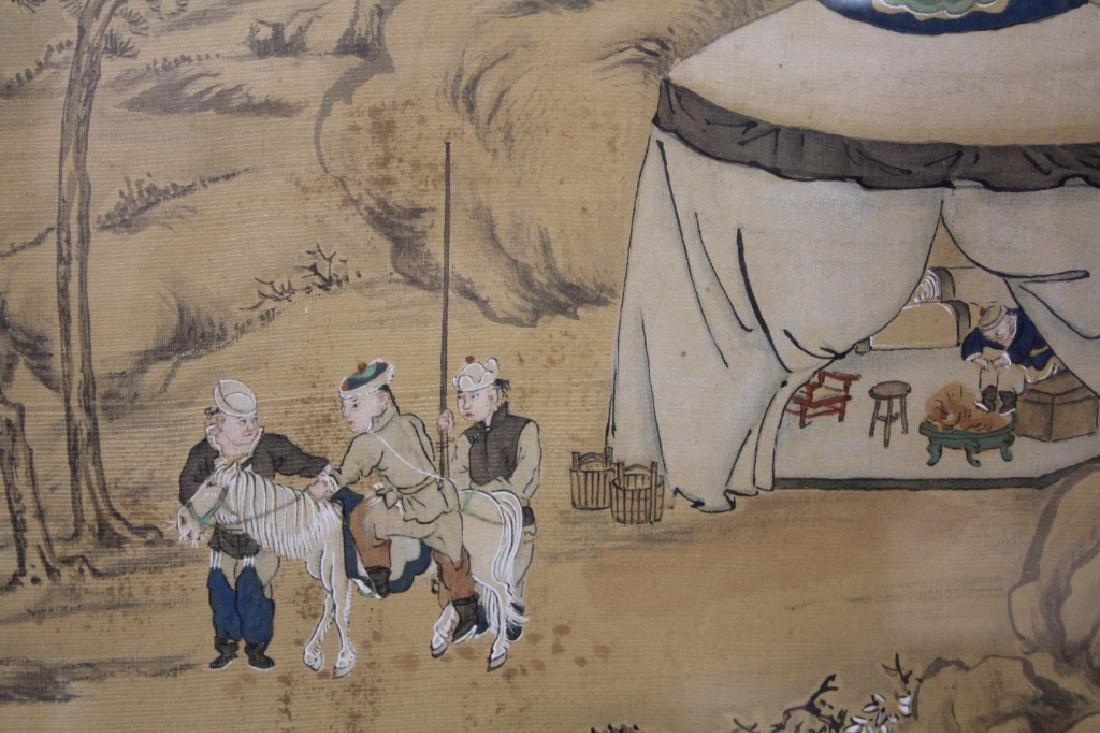 LATE 19TH C. FRAMED CHINESE PAINTING ON SILK - 4