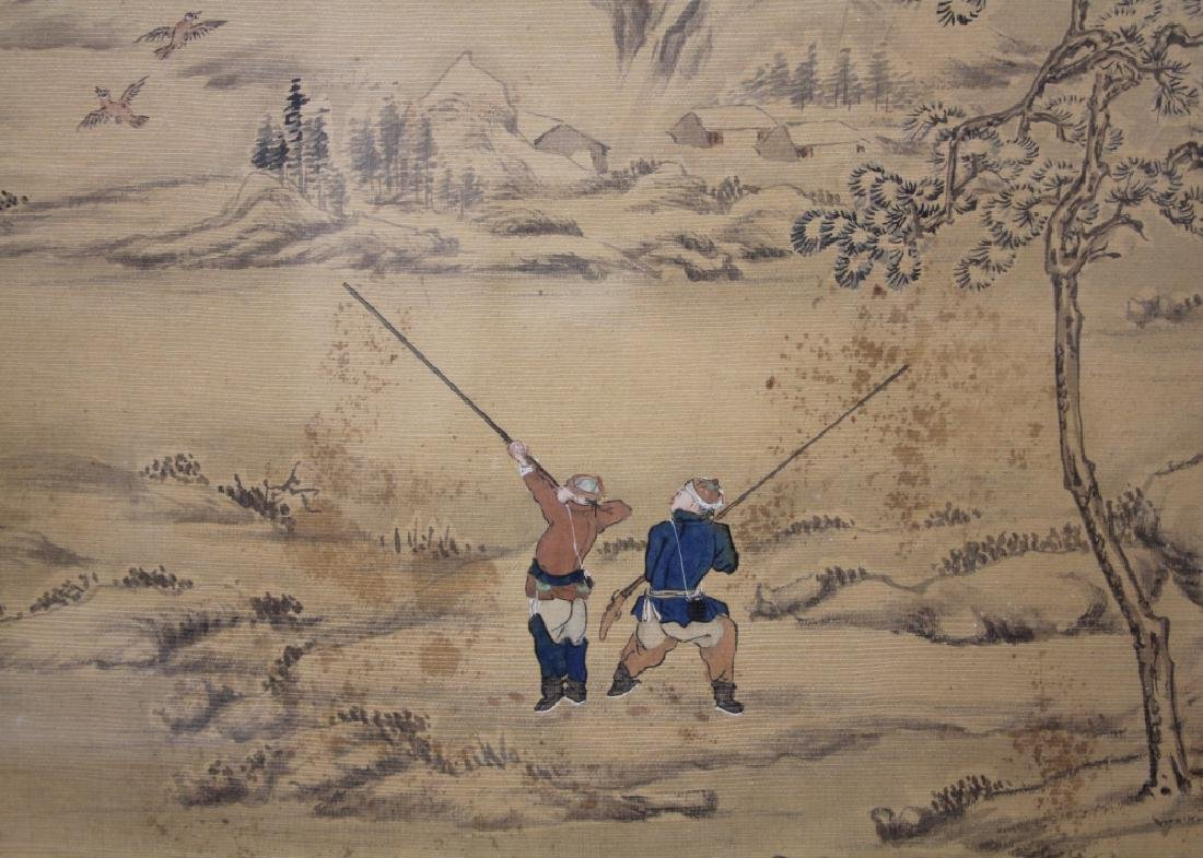 LATE 19TH C. FRAMED CHINESE PAINTING ON SILK - 5