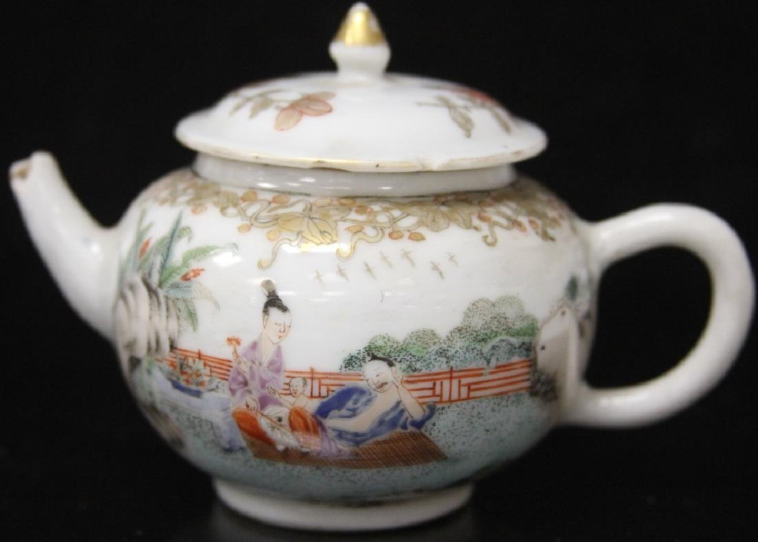 (10) PC. CHINESE PORCELAIN PAINTED TEA SERVICE SET - 10