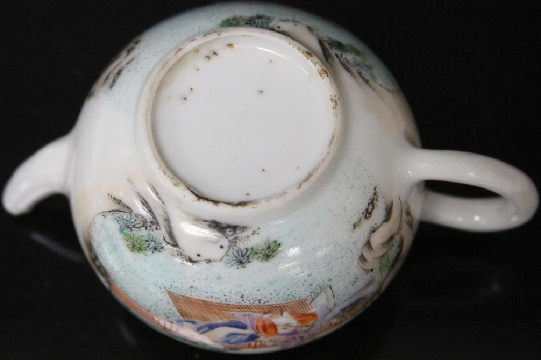 (10) PC. CHINESE PORCELAIN PAINTED TEA SERVICE SET - 2