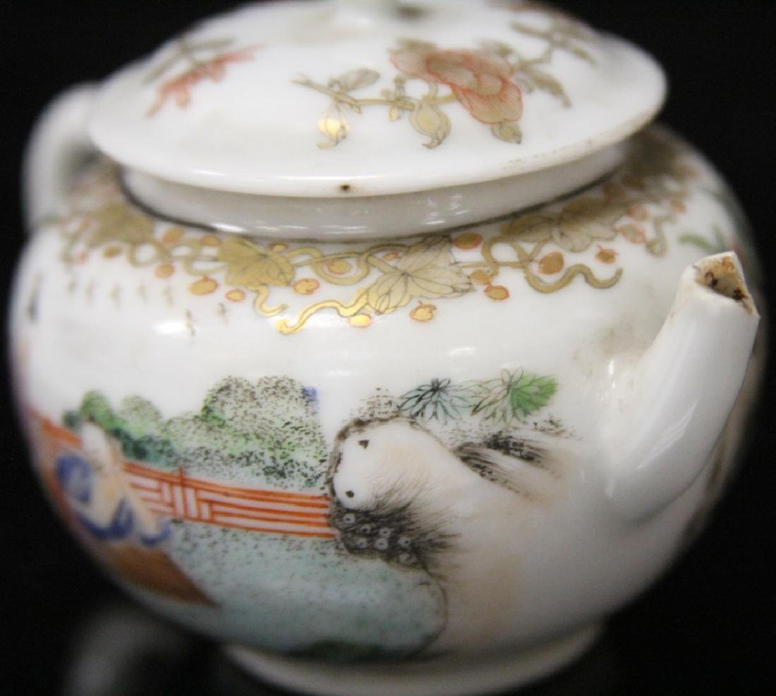 (10) PC. CHINESE PORCELAIN PAINTED TEA SERVICE SET - 4
