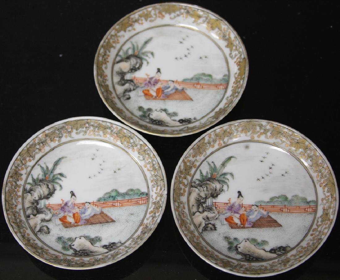 (10) PC. CHINESE PORCELAIN PAINTED TEA SERVICE SET - 5