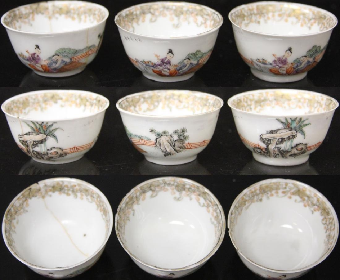 (10) PC. CHINESE PORCELAIN PAINTED TEA SERVICE SET - 8